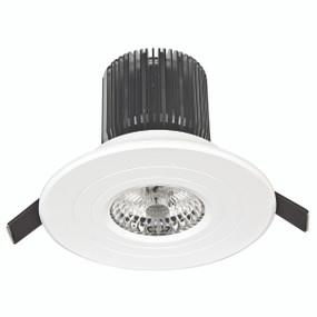 Light: LUXOR High Lumen LED Round Fixed Downlight (Cool White) - WHITE