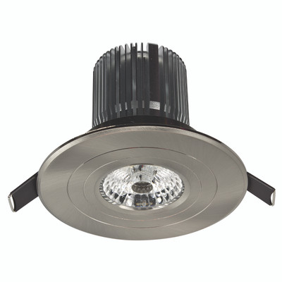 Luxor High Lumen LED Round Fixed Downlight - Brushed Nickel
