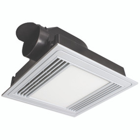 Tercel Square Exhaust Fan with 13W LED Light - White