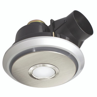 Light: BOREAL 325mm Exhaust Fan with 11W LED Light - STAINLESS STEEL