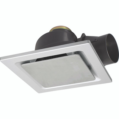 Light: SARICO-II Square Exhaust Fan - STAINLESS STEEL
