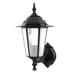 Light: Villa Coach Wall Light - BLACK