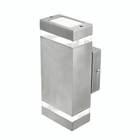 Light: ENTASIS UpDown Wall Light - STAINLESS STEEL
