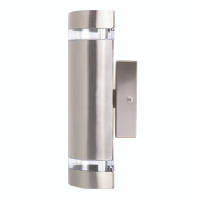 Light: DORMON Up/Down Exterior Wall Light - STAINLESS STEEL