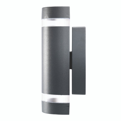 Light: DORMON Up/Down Exterior Wall Light - CHARCOAL