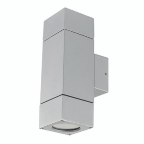 Light: PRAIRIE Up/Down Exterior Wall Light - SILVER