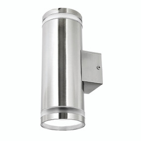 Light: LETO Energy Saving Up/Down Wall Light - STAINLESS STEEL