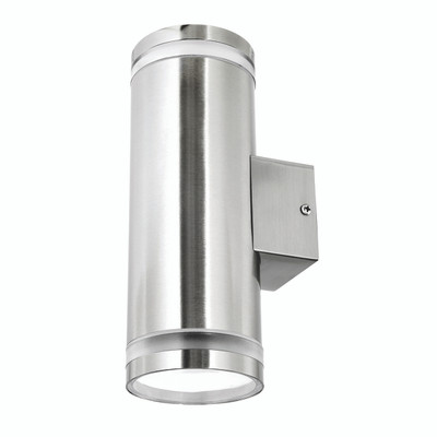 Light: LETO Energy Saving Up/Down Wall Light - STAINLESS STEEL