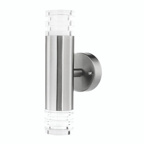 Light: EUPHRATES LED Up/Down Exterior Wall Light - STAINLESS STEEL