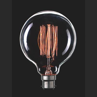 Light: VINTAGE Filament G95 Globes - B22 base)