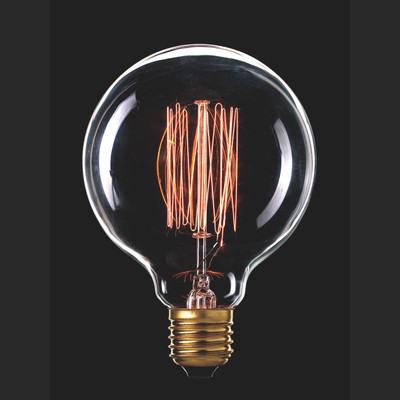 Light: VINTAGE Filament G95 Globes - E27 base)