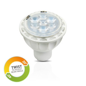 Light: LED GU10 Adjustable Reflector Globes - WARM WHITE