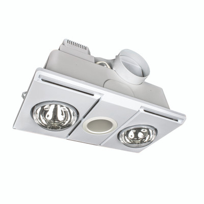 Light: SUPERNOVA LED 3-in-1 Bathroom Mate - WHITE (2 lights)