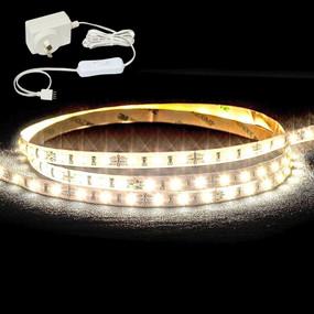 LED Strip Light Kit - Waterproof Includes Plug IP65 3000K DIY - 2.4 Metres