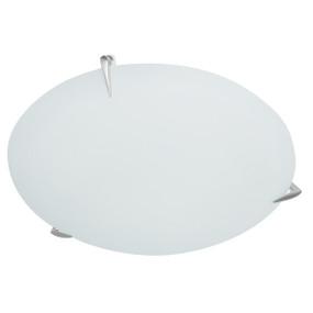 Light: SPUR 30cm Flush Ceiling Light - BRUSHED CHROME