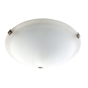 Light: SPIRELET Flush Ceiling Light - BRUSHED CHROME