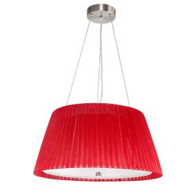 Glamor 40CM Fabric Pendant - Red