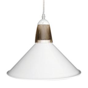 Drake LED Industrial Metal Pendant - White