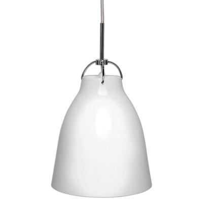 Finn Medium Metal Pendant - White