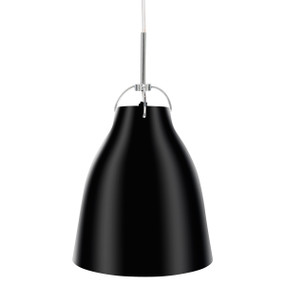 Finn Medium Metal Pendant - Black