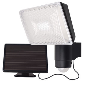 Light: SOLEI Solar LED Security Light with Sensor - BLACK