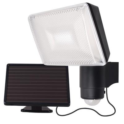 Light: SOLEI Solar LED Security Light with Sensor - BLACK