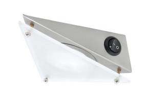 Angled Cabinet Light - Brushed Chrome