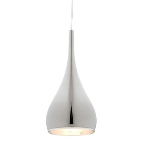 Contemporary Chrome Pendant Light - Modern