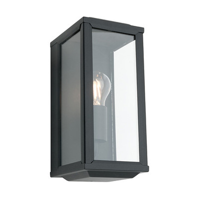 Anglesea 1 Light Black Wall Light
