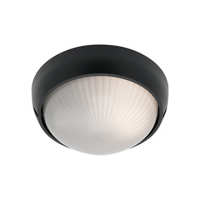 Coogee Small Round Black Ceiling Light