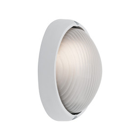 Coogee Small Oval White Wall Light