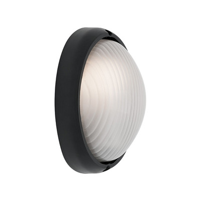 Coogee Small Oval Black Wall Light