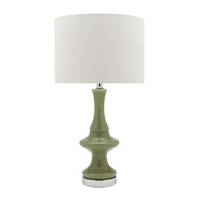 Contemporary Chic Table Lamp Green