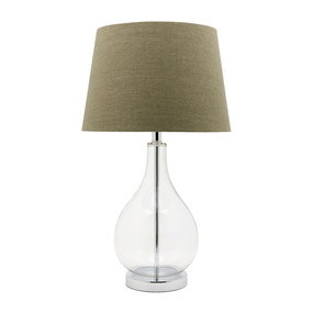 Modern Refined Glass Table Lamp - Green Shade