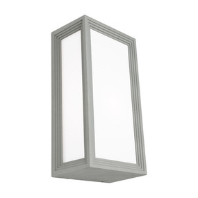 Wall Light - Marine Grade Modern Chic Vertical 40W IP54 285mm Silver