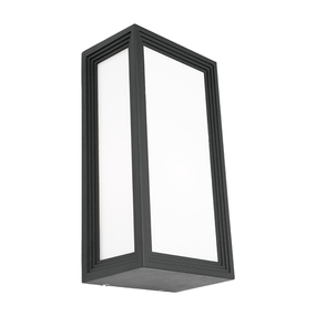 Wall Light - Marine Grade Modern Chic Vertical 40W IP54 285mm Charcoal