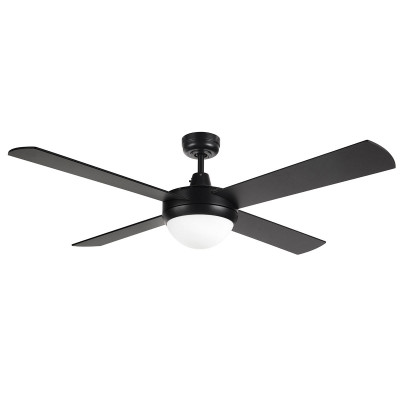 Tempest 52 Inch Ceiling Fan With B22 Light - Black