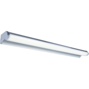 Contemporary Slimline LED Vanity Light - 12W 665lm Silver