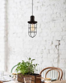 Pendant Light - Industrial Style Cage BB8