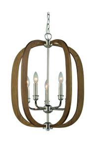 Pendant Lights | BOLTON series: E14 pendant light - Taupe Finish Wood