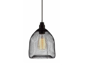 Pendant Light - Industrial Style Black Wire Bird Cage 17cm