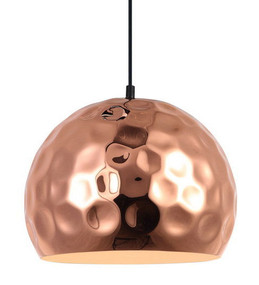 Copper Pendant Light - Industrial Round Shape Adjustable Cord
