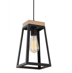 Modern Black Pendant Light - Timber and Iron, Bold, Adjustable Cord