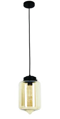 Pendant Lights   MASON Series: E27 Pendant Light - Tippled Amber Glass