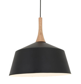 Pendant Light - Industrial Style Adjustable Cord 400mm Black