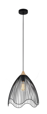 Pendant Lights | SPIAGGIA series: E27 pendant light - Black Iron 40 cm