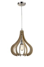 Pendant Lights   STARK series: E27 pendant - Small Blonde Wood