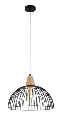 Pendant Lights | STRAND series: E27 pendant light - Black Ironwood