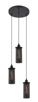 Pendant Lights | VENETO series: Aged Decorative Light - 3 E27 Globes