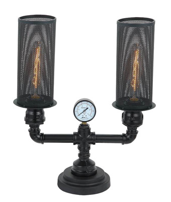 Table and Desk Lamps   VENETO series: Aged Decorative Light - 2 Globe Table Lamp